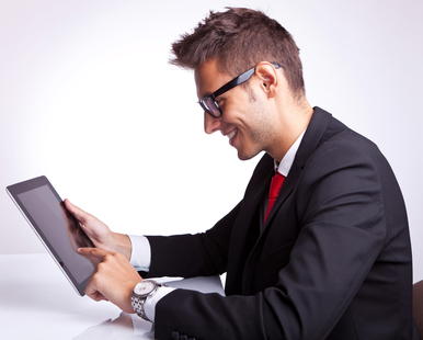 browsing on tablet