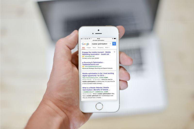 google mobile rankings