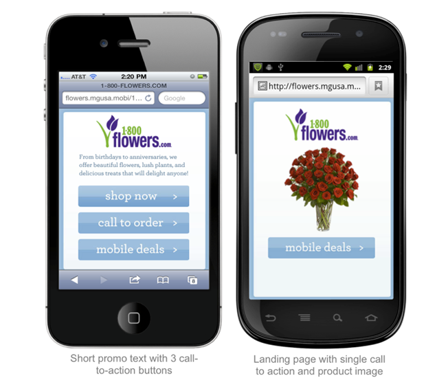 flower mobile site
